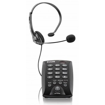 Telefone Headset ELGIN HST-6000 c/ Saída p/ Gravação
