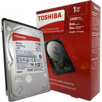 "Disco Rígido Toshiba 1TB 5400RPM 2,5"" p/ note HDWJ110XZSTA"