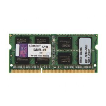 Memória KINGSTON KVR16S11/8 DDR3 8GB Sodimm CL11 1600 MHz