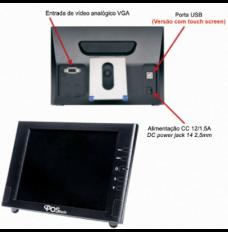 Monitor POStech 8 Polegadas LCD com Entrada VGA